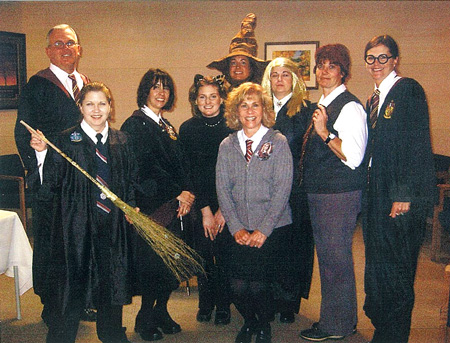 photo of staff dressed up for Halloween